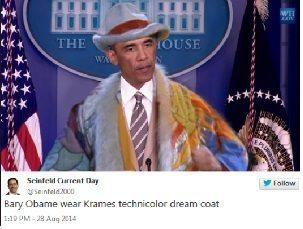 obama seinfeld suit