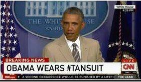 obama tan suit